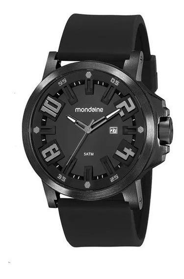 Relógio Mondaine C/ Caixa Em Metal E Pulseira Em Silicone