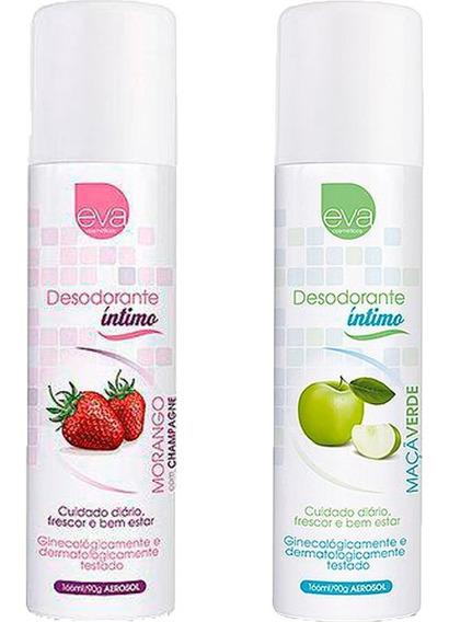 Desodorante Íntimo Feminino Kit Maçã Verde + Morango 166 Ml