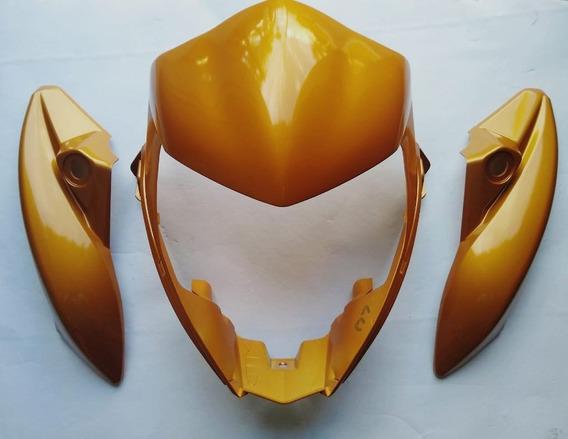 Carenagem Do Farol Cb 300 Kit Central E Lateral Dourado
