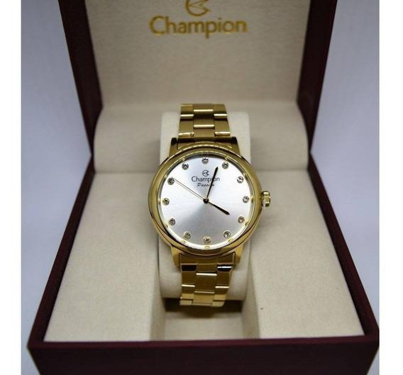 Relógio Champion Feminino Dourado Cn29874h