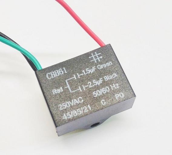 Capacitor Permanente Cbb61 Duplo 1,5+2,5uf 250vca