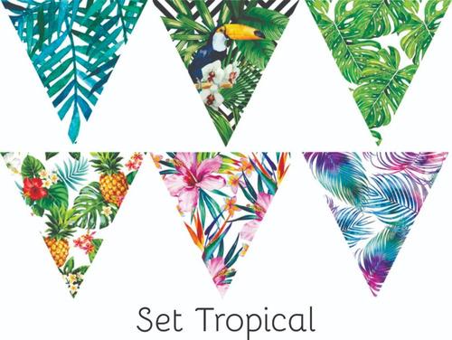 Banderines Para Sublimar Set Tropical Laura Craft