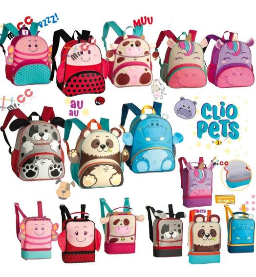 Kit Mochila+lancheira Escolar Infantil Animais Bichinho Zoo