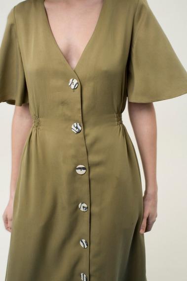 Vestido Enif Verde Militar Las Pepas