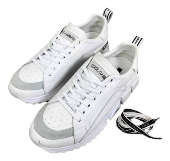 Tênis Dolce Gabbana Lançamento - Branco - 12x Sem Juros