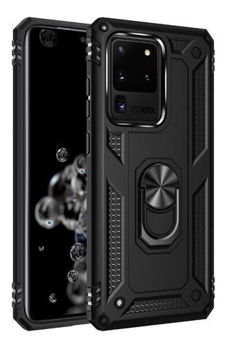 Estuche Protector Armor Ring Samsung Galaxy S20 Ultra - Negr