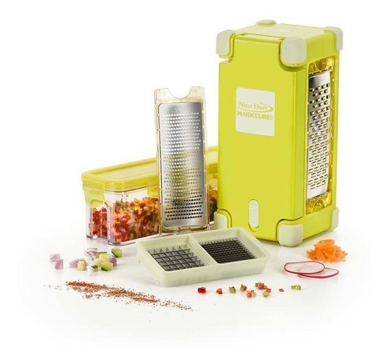Rebanador Alimentos Nicer Dicer Magic Cube Gourmet Amarillo