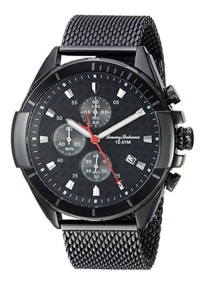 Reloj Tommy Bahama Acero Inoxidable Color Negro