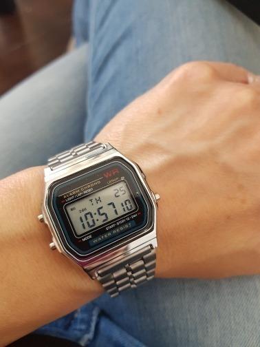 Relógio Barato Digital Retro Prata