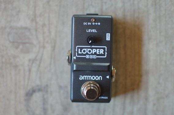 Pedal Loop Ammoon Guitarra Violão Baixo 10 Min Looper