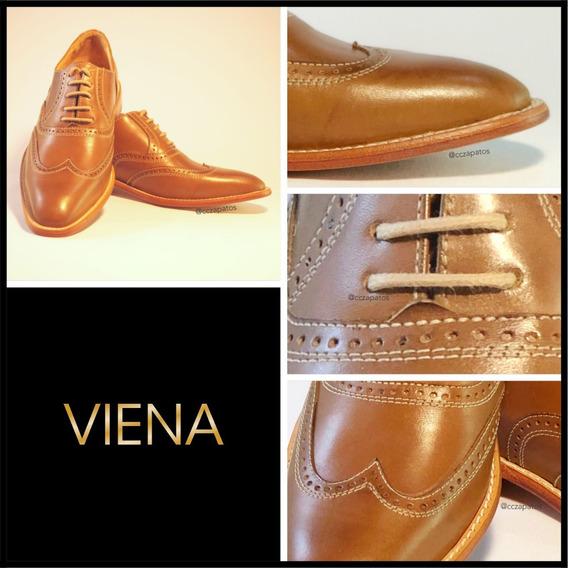 Zapato Cuero Hombre - Modelo Viena - Diseños Exclusivos
