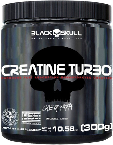 Imagem 1 de 2 de Creatine 300g ( Creatina ) - Caveira Preta - Black Skull