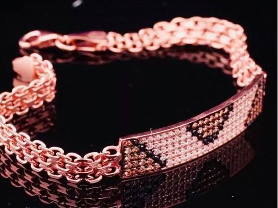 Bracelete, Pulseira De Prata Esterlina Turca, Oncinha