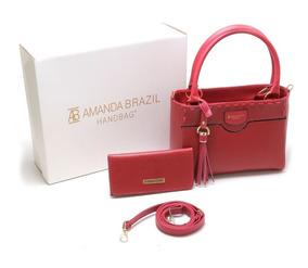 Bolsa Feminino Amanda Brazil Com Caixas Personalizada 03
