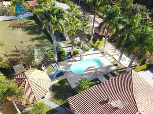 Chácara Com 3 Dormitórios À Venda, 2100 M² Por R$ 900.000,00 - Chácaras Estância Das Águas - Monte Mor/sp - Ch0014