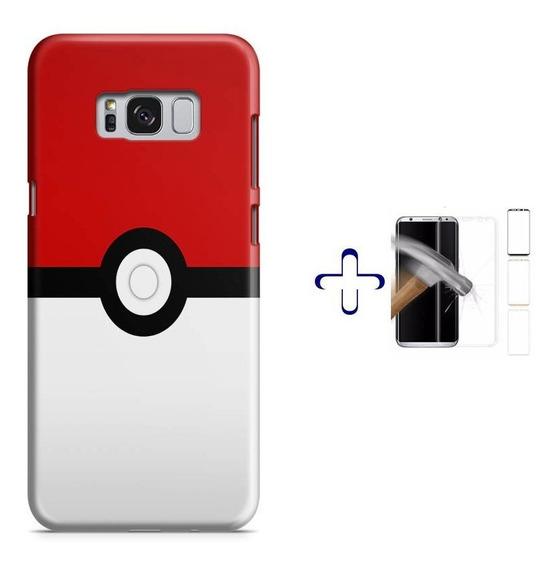 Kit Capa Galaxy S8+ Pokebola Pokeball Pokemon+pel.vid(bd01)