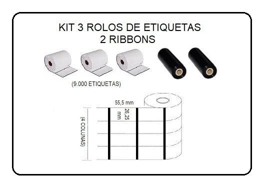 Etiquetas Composição Roupas 26x55m Ribbon Argox Elgin Zebra.