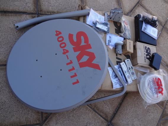Antena Satélite Sky Sad Hdtv Sad60 Receptor Digital Completa