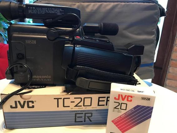 Filmadora Panasonic Vhs C Pv-110 Com Bolsa E 4 Fitas