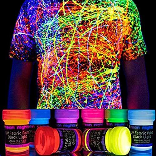 Pintura Uv Para Tela Lavable Luz Ultravioleta Neon Nights