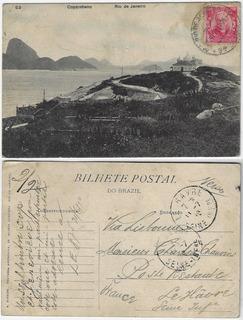 Rio De Janeiro 1910 Cartão Postal Igreja De Copacabana
