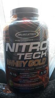 Suplemento Deportivo Proteína Nitrotech Whey Gold 5.53 Lbs.