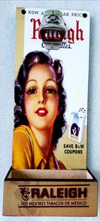 Raleigh Vintage Destapador Cartel Bar Deposito Corcholatas
