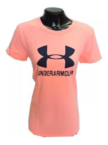 Remera Under Armour Ua Sportstyle Mujer Fluor