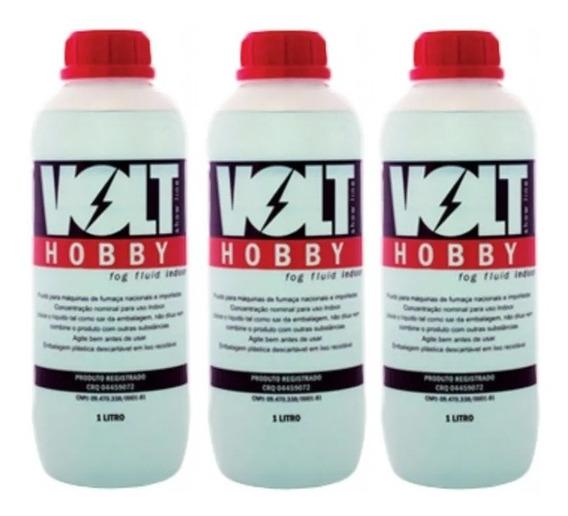 Liquido Máquina De Fumaça Volt Kit C/ 3 Litros Hobby