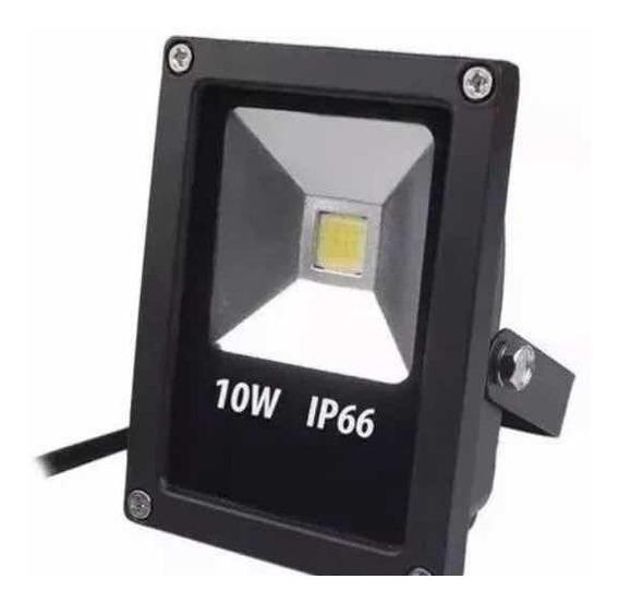 Kit 10 Refletor Led 10w Verde Pronta Entrega Ip 66