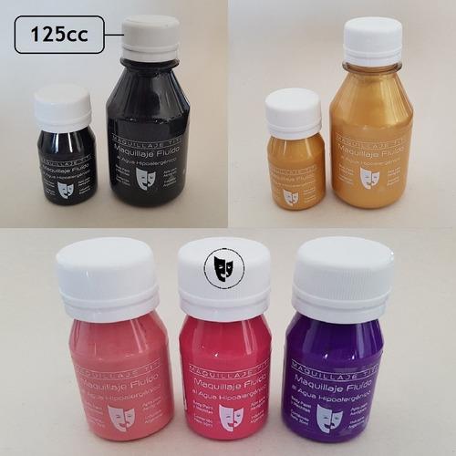 Imagen 1 de 1 de Body Paint Al Agua Maquillaje Titi 125cc - Fucsia