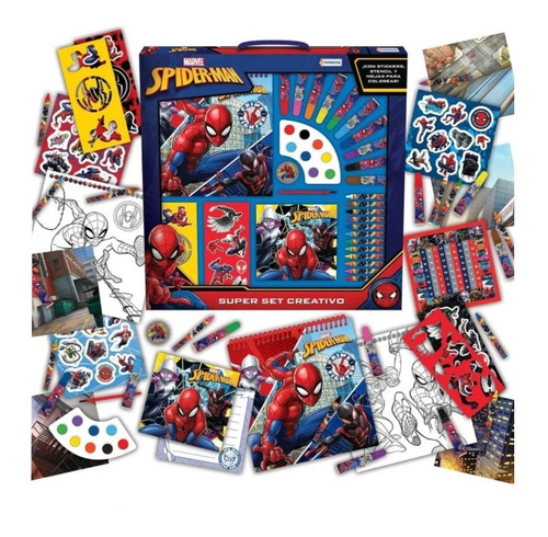 Imagen 1 de 5 de Spiderman Juego De Arte Y Dibujo Tapimovil