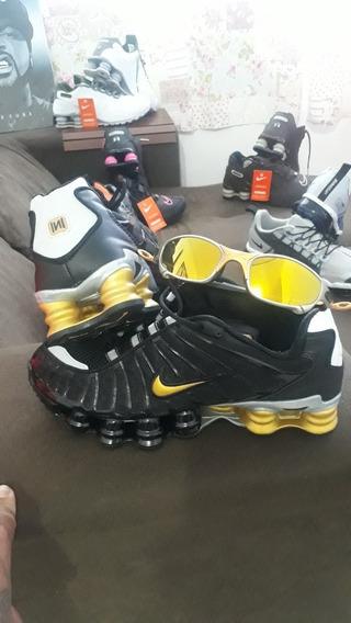 Tenis Nike 12 Molas Novo + Brinde 1 Óculos Oakley Romeu 2