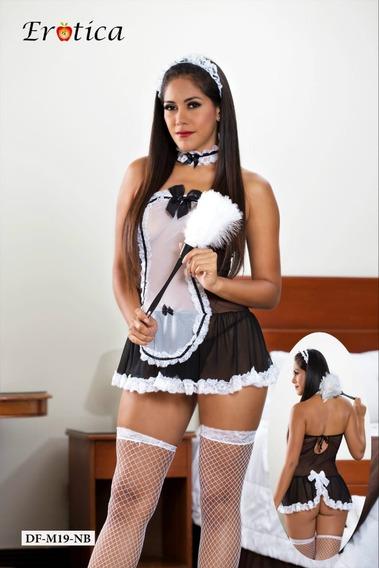Disfraz Sexy+ Accesorios Lenceria Femenina-babydoll Sexy