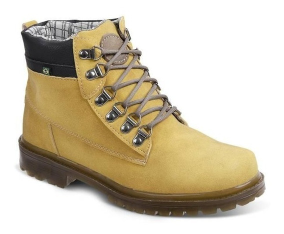 Bota Adventure Masculina Eco Canyon Worker Boot Amarelo