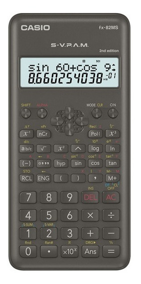 2 Calculadora Casio Fx-82ms 2nd Edition Garantia De 3 Anos