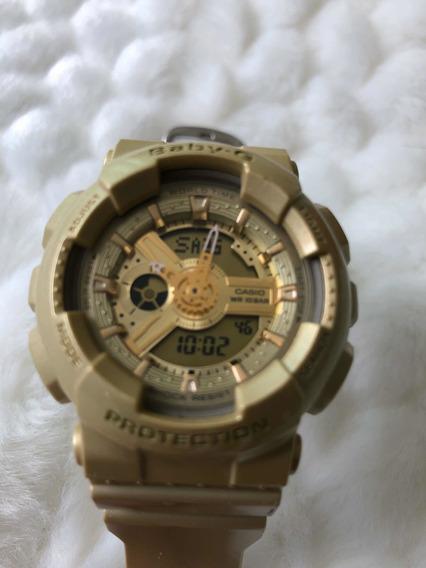 Relógio Cássio Gshock Baby G Feminino Dourado Modelo Ba111
