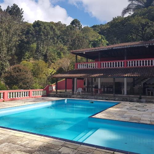 Imagem 1 de 12 de Juquitiba/lago/piscina /bela Casa/escr Registrada/ref:05245