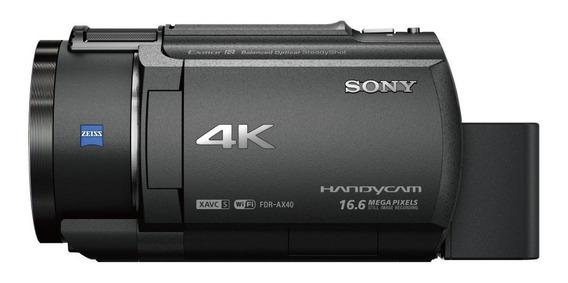 Videocamara Handycam 4k Ax40 Con Sensor Exmor R Cmos
