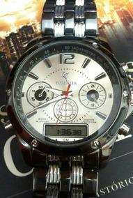 Relógio Masculino Luxo Cronus E Digital Barato