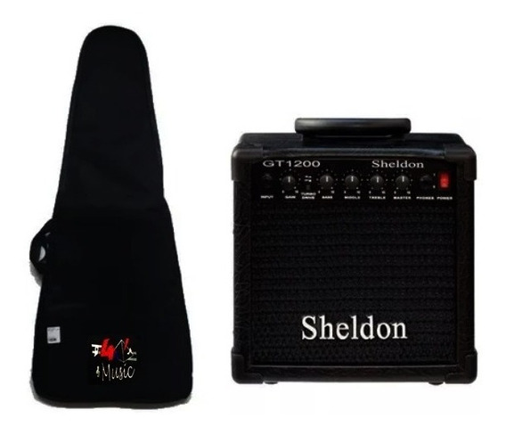 Kit 1 Amplificador Sheldon Gt-1200 Preto + 1 Capa Avs Luxo