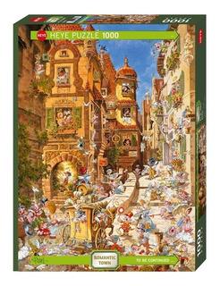 Heye Puzzle Origen Alemania 1000 Piezas Romantic Town