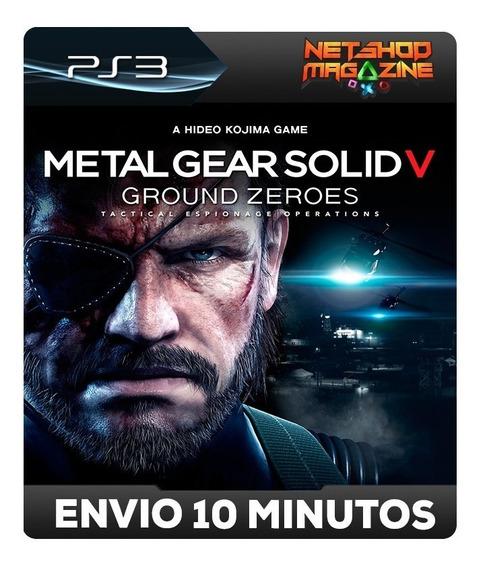 Metal Gear Solid V: Ground Zeroes - Psn Ps3 - Envio Imediato