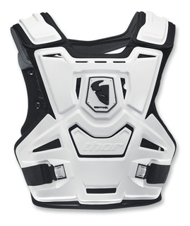 Colete Thor Sentinel Preto Branco Motocross Velocross Trilha