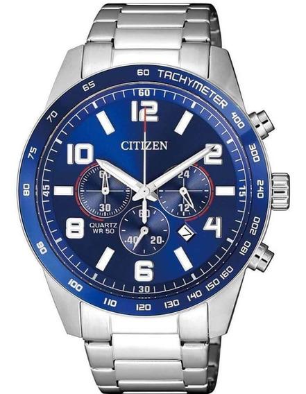 Relógio Citizen Masculino Prata Tz31454f Multi Função