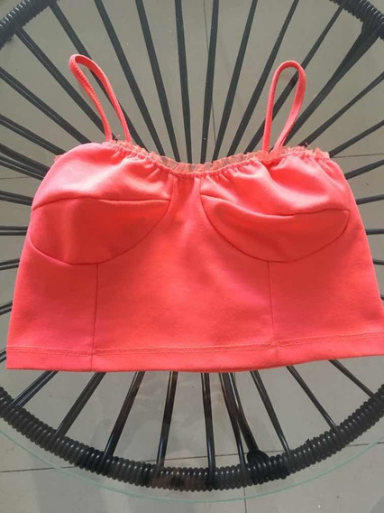 Top Musculosa Rosa Coral Mujer