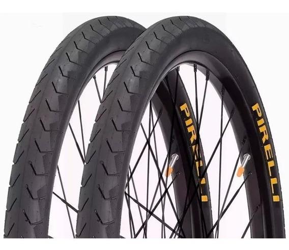Par Pneu Bicicleta Pirelli Aro 26x1.50 Slick Phantom Street