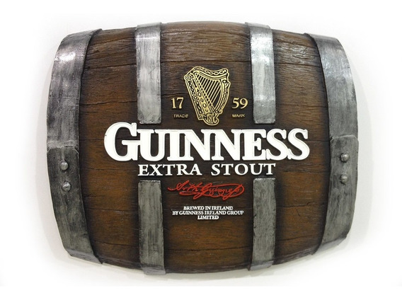 Barril Horizontal De Parede - Guinness Cerveja