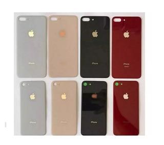Tapa Trasera D Cristal iPhone 8 & 8 Plus Blanco Negro Dorado