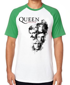 Camiseta Blusa Raglan Camisa Queen Forever Banda Rock Fred